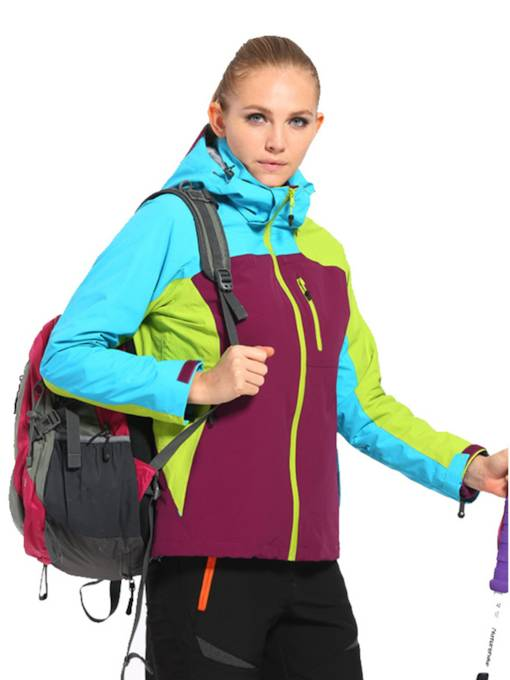 Color Block UV Protection Two-Piece Women's Outdoor Jacket