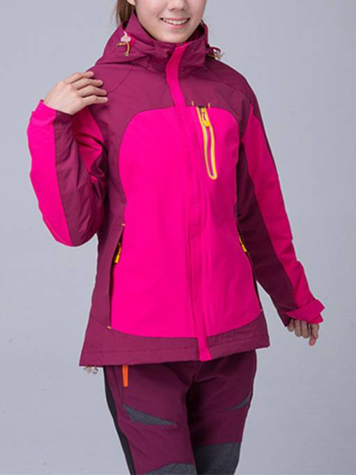 Breathable Thermal Two-Piece Women's Jacket Outdoor Windbreaker