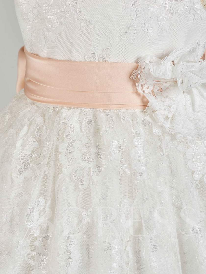 Tiered Lace Bowknot Baby Girl's Christening Gown