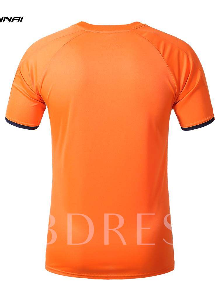 Men's Round Collar Breathable Outdoor Short Sleeve T-shirt