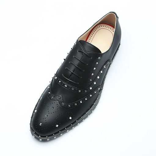 Lace-Up Round Toe Rivet Professional Men's Oxford