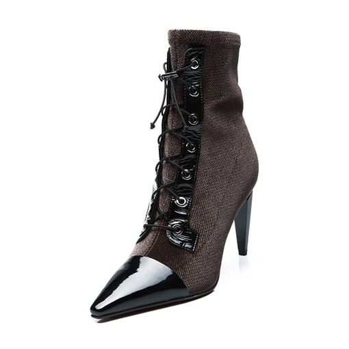 Stiletto Heel Pointed Toe Elastic Customized Women's Ankle Boots