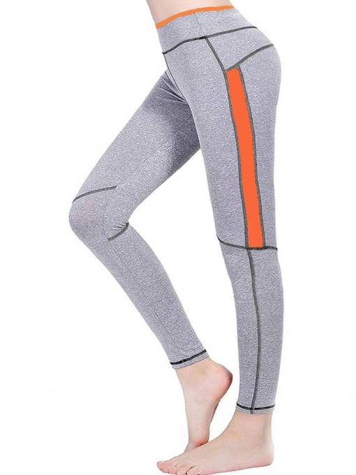 Neon Color Block Patchwork Women's Leggings