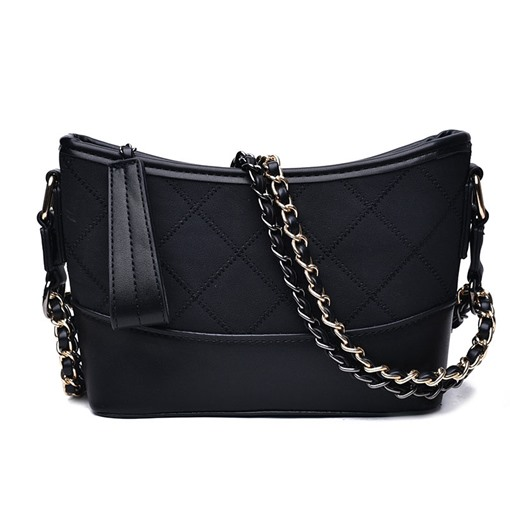 Modern Plain Barrel Shaped Zipper Soft Crossbody Bag