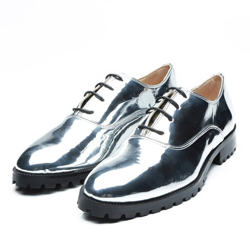 Lace-Up Round Toe Professional Plain Trendy Men's Oxford