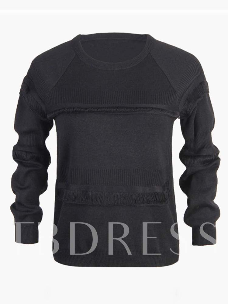 Buy Plain Solid Color Scoop Neck Pullover Women's Sweater, 13428263 for $20.22 in TBDress store