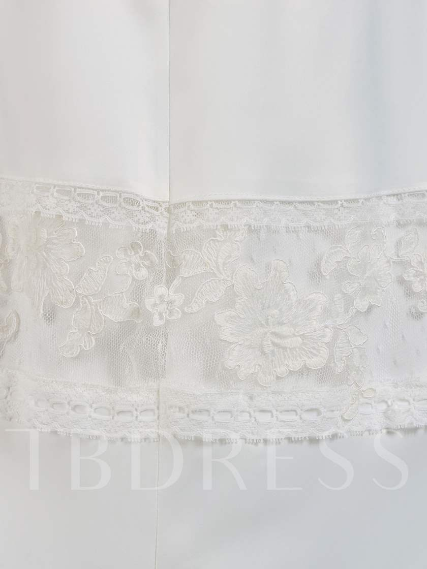 Cap Sleeve Flowers Beading Lace Baby Girl's Christening Dress