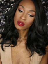 African American Slight Wave Synthetic Hair Lace Front Wig