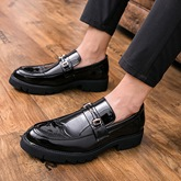 Professional Round Toe Slip-On Business Shoes for Men