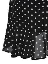 Polka Dots Ruffle High Waist Women's Skirt
