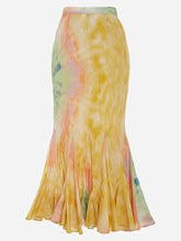 Plus Size Ankle-Length Tie-Dye Women's Maxi Skirt