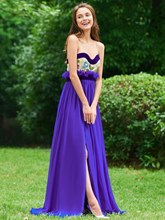 A-Line Sweetheart Embroidery Sashes Evening Dress
