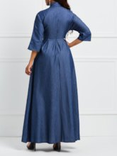 Plain Half Sleeve Women's Maxi Dress