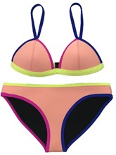 Color Block Sexy 2-Pcs Bikini Bathing Suits