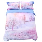 Winter Forest Printed Cotton 4-Piece 3D Bedding Sets/Duvet Covers