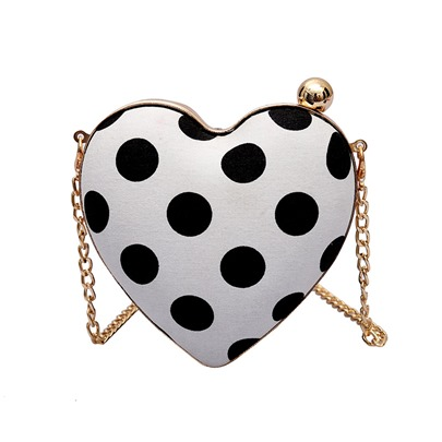 Vogue Polka Dots Heart Soft Women Crossbody Bag