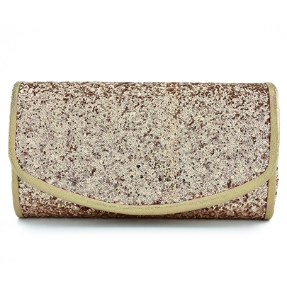 Modern Style Sequins Magnetic Snap Clutches