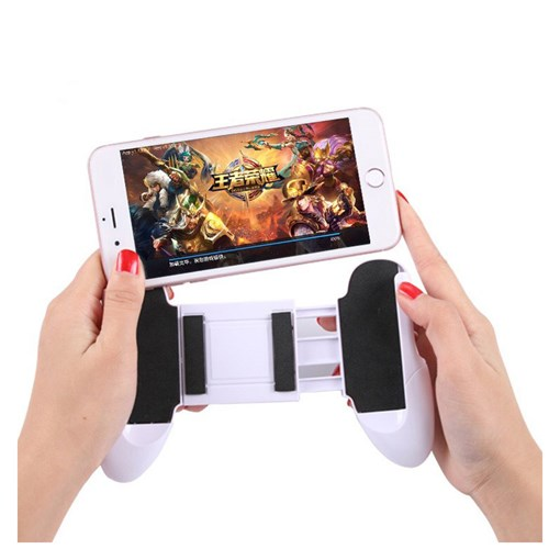 Mobile Game Controller With Bracket Function Scalable Hand Grip