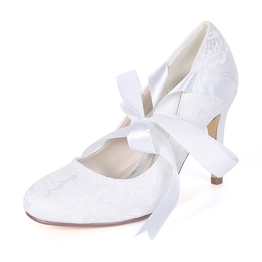 Stiletto Heel Lace-Up Elegant Wedding Shoes for Women