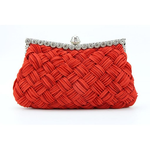 Modern Style Knitted Soft Clutch