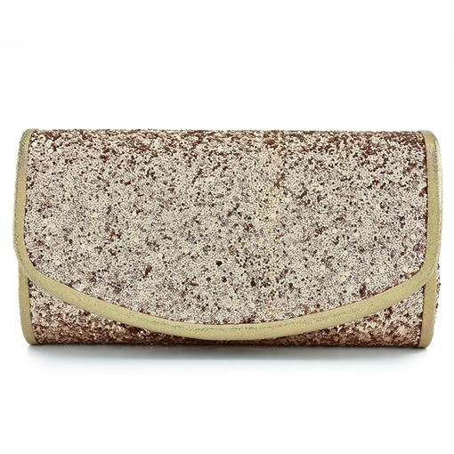 Modern Style Sequins Magnetic Snap Clutch