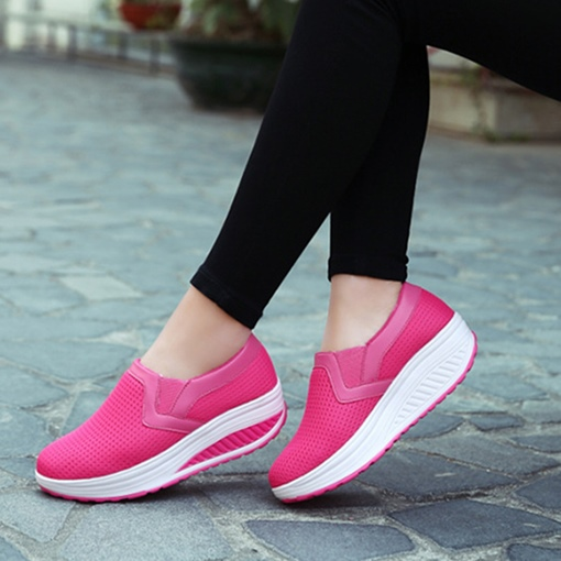 Breathable Mesh Platform Slip-On Women's Sneaker