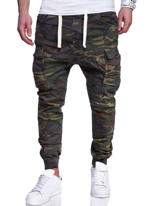Camouflage Leisure Straight Men's Casual Pants