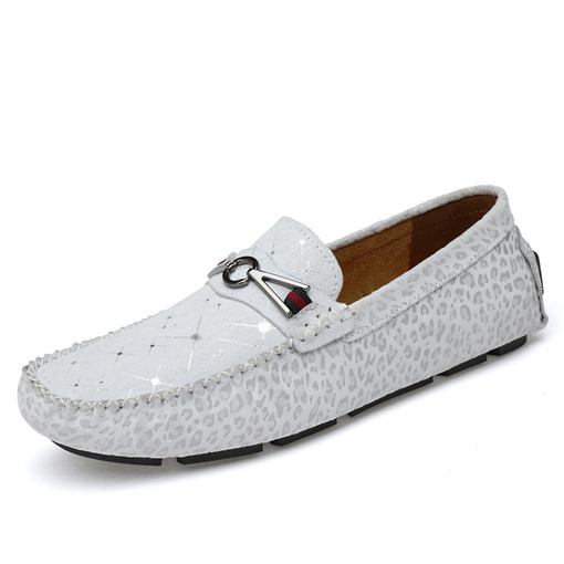 Sparkly Casual Round Toe Low-Cut Slip On Men's Loafers