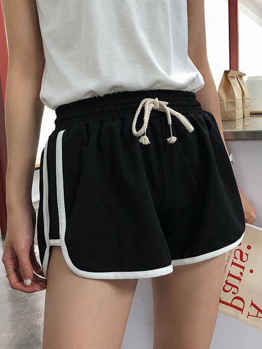 Women's Lace-up Loose Breathable Sport Shorts