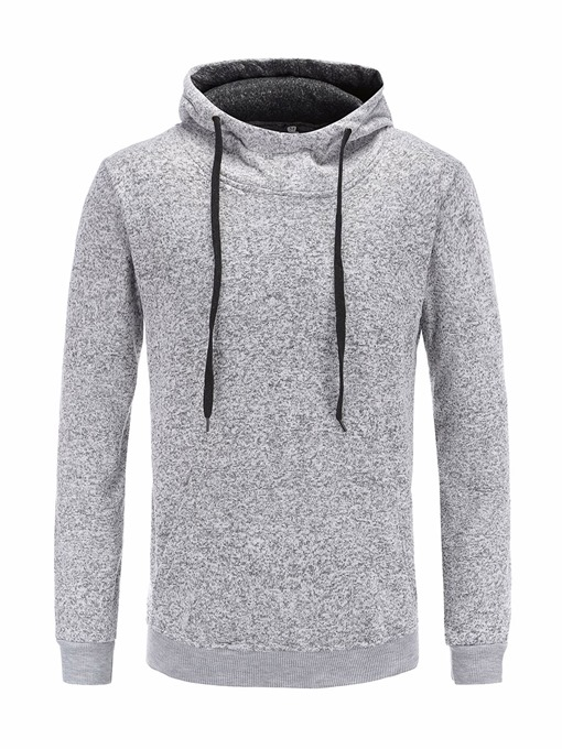Hooded Zipper Plain Warm Men's Hoodie