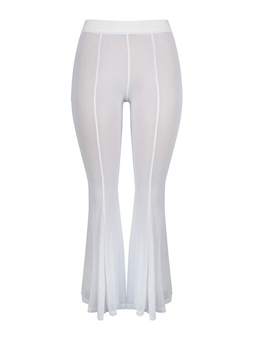 Sexy See-Through Bell Women's Casual Pants