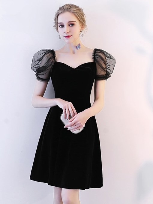A-Line Velvet Sweetheart Homecoming Dress