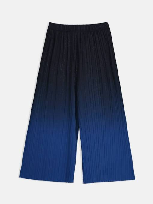 Gradient Pleated Loose Women's Casual Pants