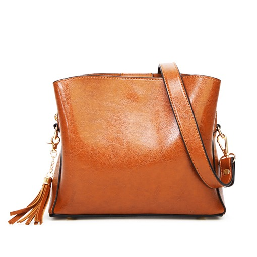 Fashion Synthetic Leather Magnetic Snap Crossbody Bag