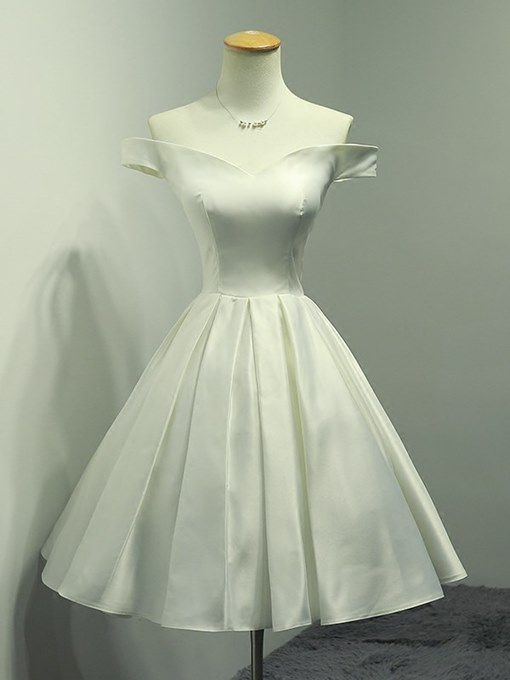 A-Line Off-the-Shoulder Simple Homecoming Dress