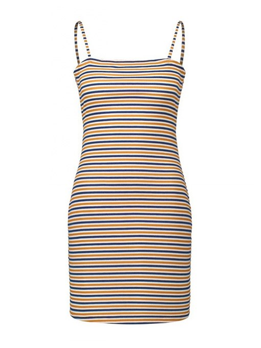 Striped Backless Women's Party Dress