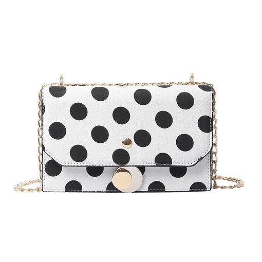 Korean Style Polka Dots Synthetic Leather Crossbody Bag