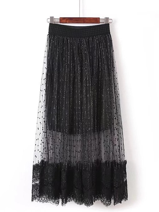 Double Layered Lace Women's Skirt