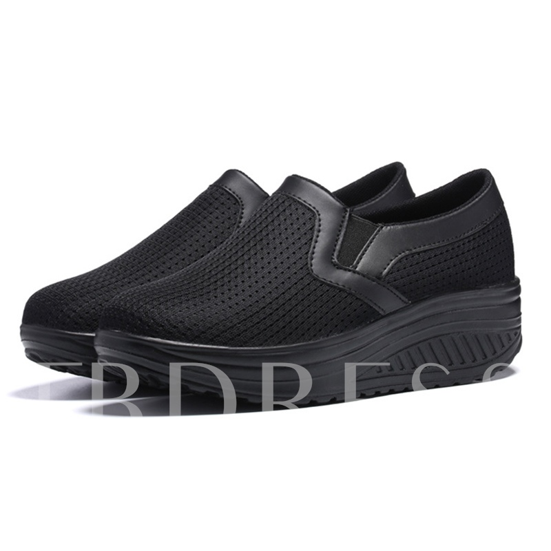 Buy Breathable Mesh Platform Slip-On Women's Sneaker, Spring,Summer,Fall, 13316095 for $33.81 in TBDress store