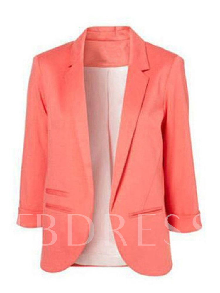 Roll Up Sleeve Open Front Women's Blazer