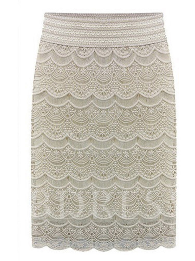 Plus Size Lace Bodycon Women's Skirt