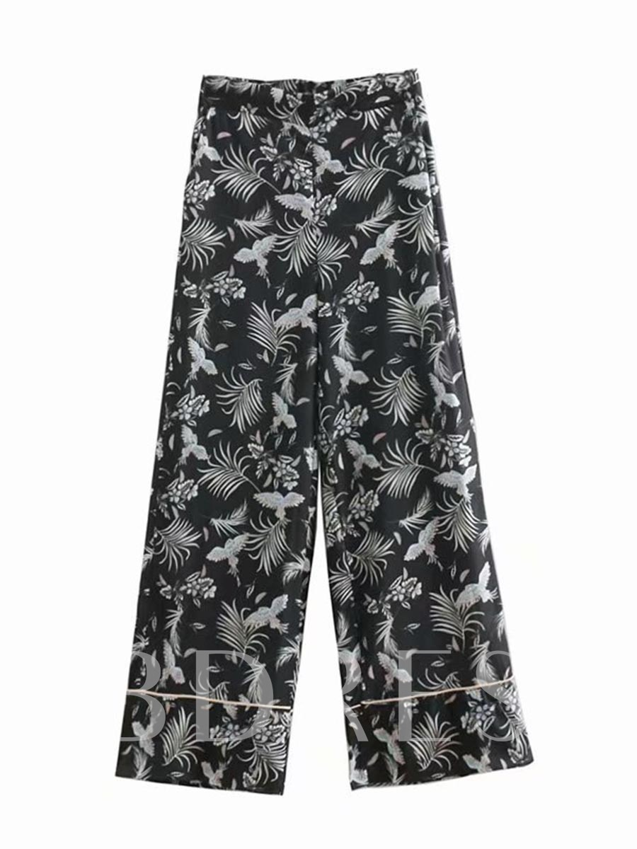 Buy Loose Floral Print Wide Legs Women's Casual Pants, Summer, 13315230 for $20.96 in TBDress store
