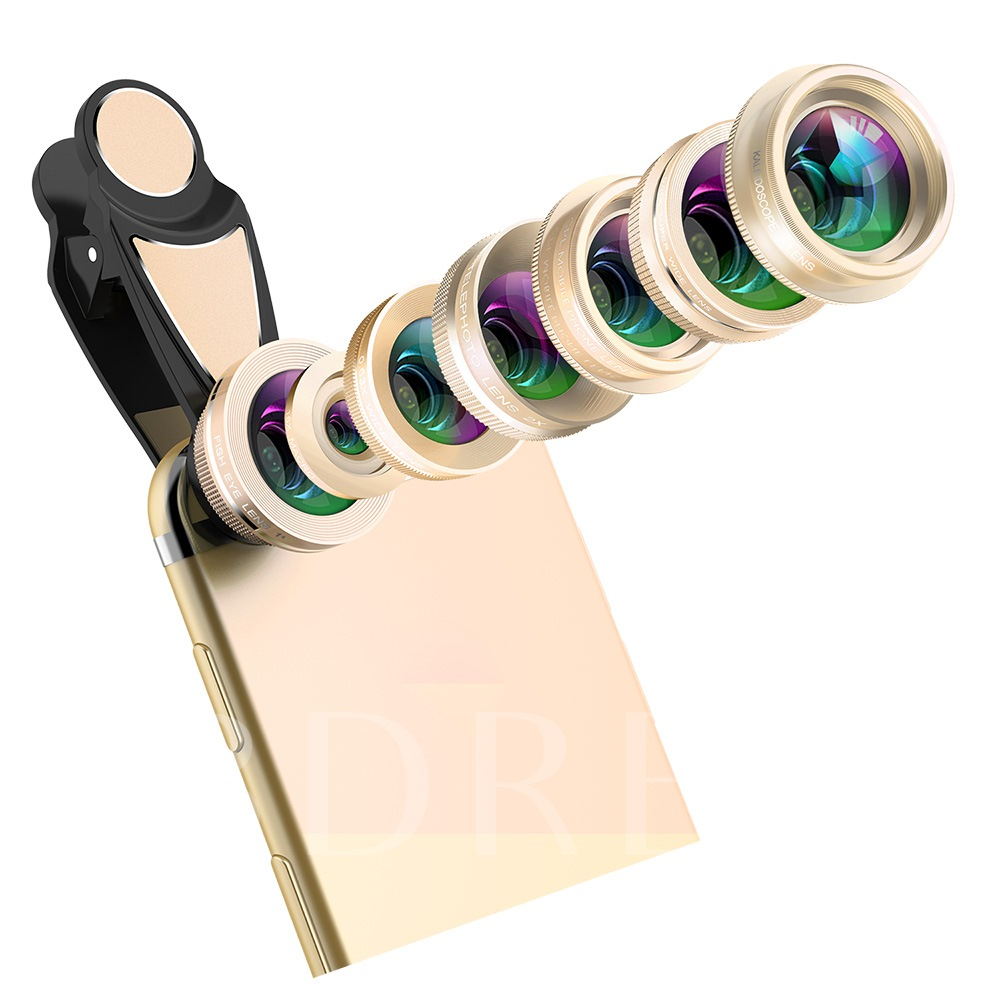 Seven-in-one Set Fisheye Wide-angle Macro Portrait External Shooting Lens