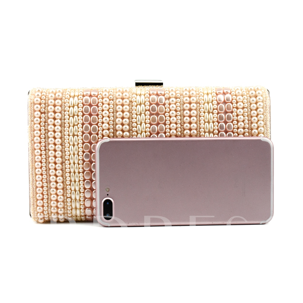 Occident Style Contrast Color Hasp Clutch