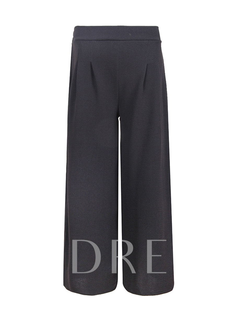 Buy Plain Wide Legs Pleated Women's Casual Pants, Spring,Summer, 13321007 for $19.85 in TBDress store