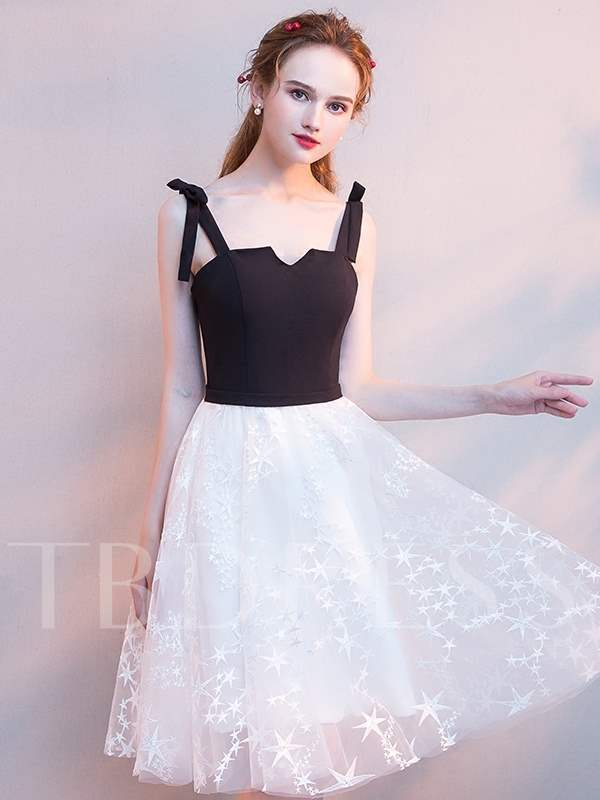 Buy A-Line Spaghetti Straps Lace Homecoming Dress, Spring,Summer,Fall,Winter, 13331748 for $116.41 in TBDress store