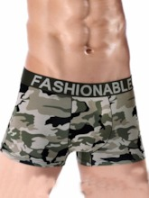 Camouflage Widen Waistband Cotton Boxers for Men