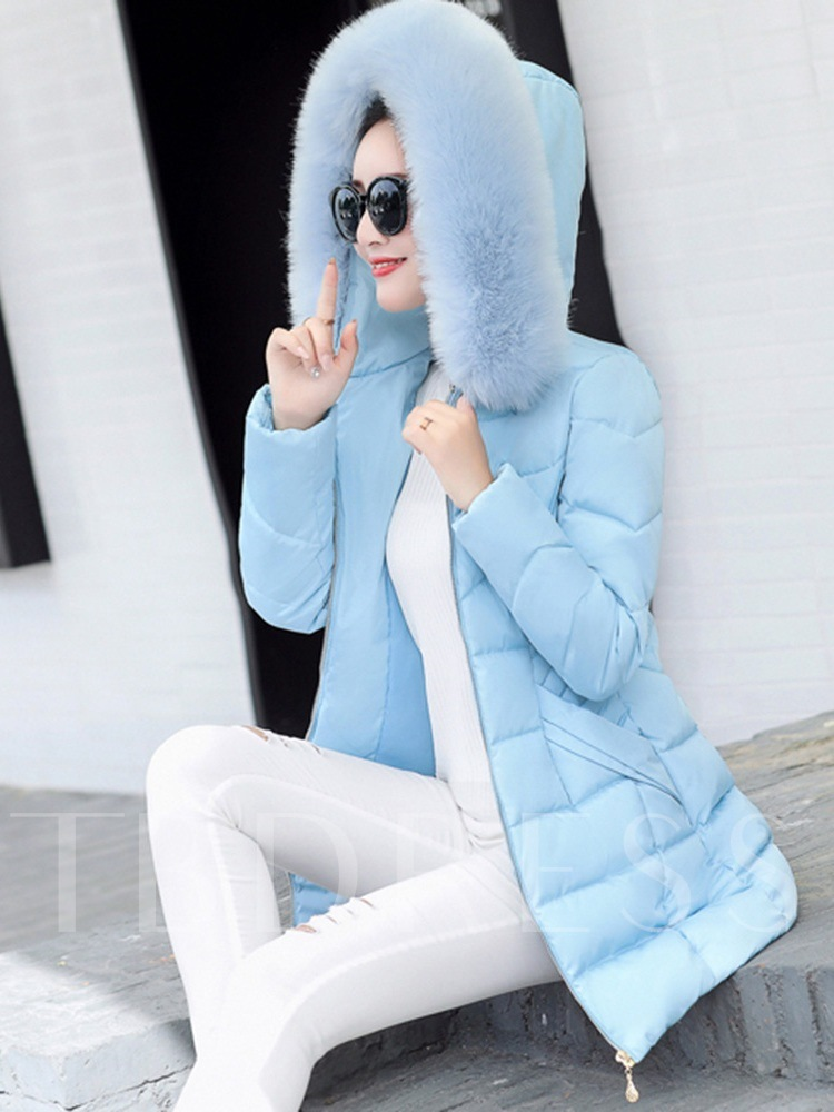 Thick Slim Faux Fur Women's Cotton Padded Jacket