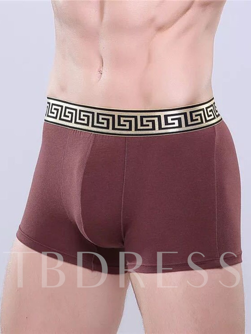 Printing Band Modal Breathable Boxer Underwear for Men