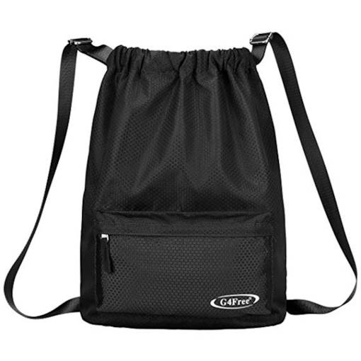 Casual Nylon Plain Medium Unisex String Bag